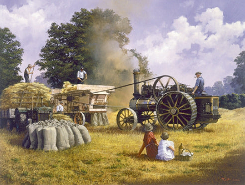 Malcolm Root - Threshing With A Fowler - Traction Engine
