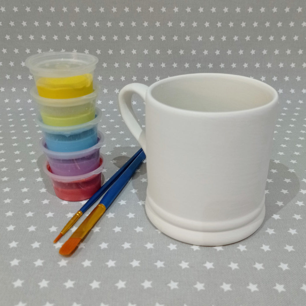 Ready to paint pottery - Large Country Mug