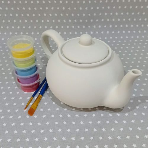 Ready to paint pottery - Classic Teapot