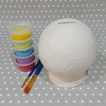 Load image into Gallery viewer, Ready to paint pottery - Football Money Box