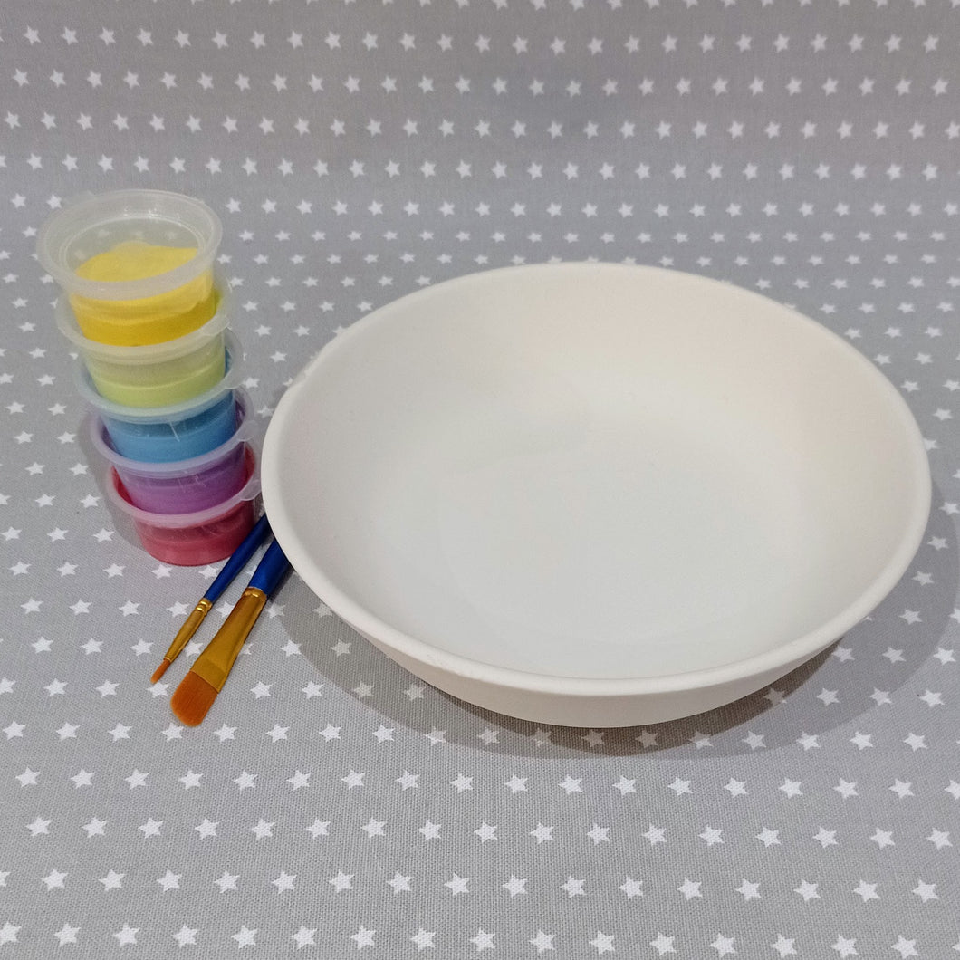Ready to paint pottery - Coupe Pasta Bowl