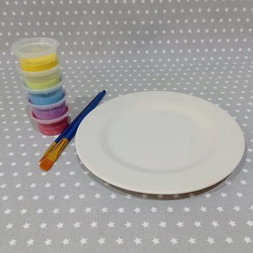 Ready to paint pottery - Rimmed Salad Plate