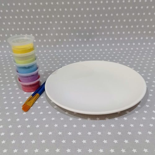 Ready to paint pottery - Coupe Salad Plate