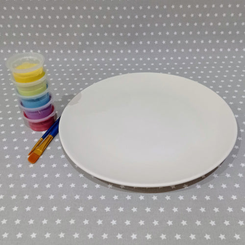 Ready to paint pottery - Coupe Dinner Plate