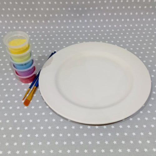 Ready to paint pottery - Rimmed Dinner Plate