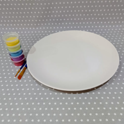 Ready to paint pottery - Coupe Charger Plate