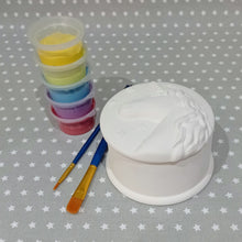 Load image into Gallery viewer, Ready to paint pottery - Unicorn Trinket Box