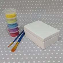 Load image into Gallery viewer, Ready to paint pottery - Rectangle Trinket Box