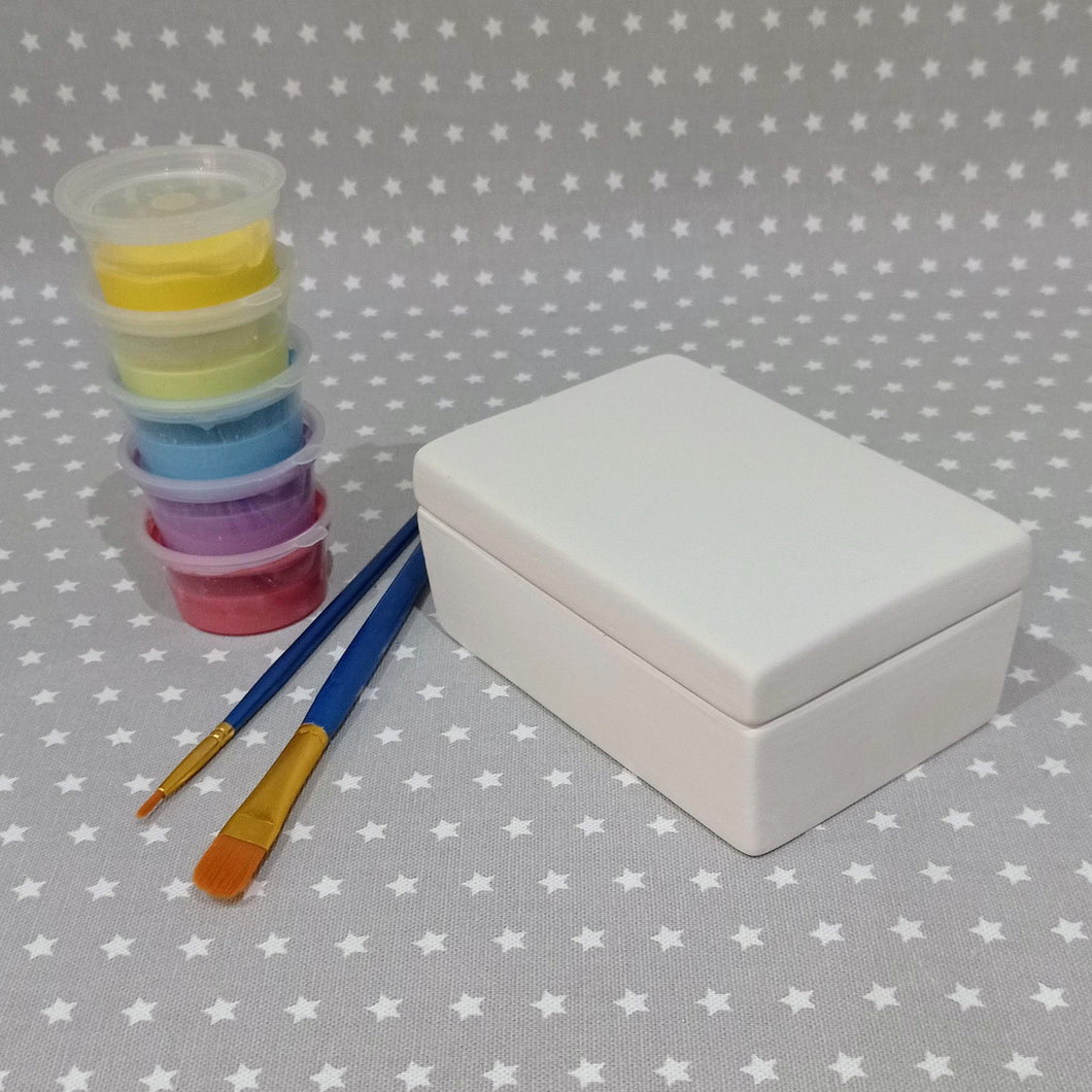 Ready to paint pottery - Rectangle Trinket Box