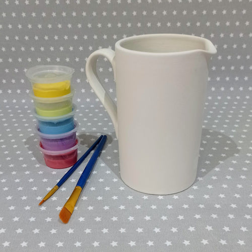 Ready to paint pottery - Half Litre Cylinder Pitcher