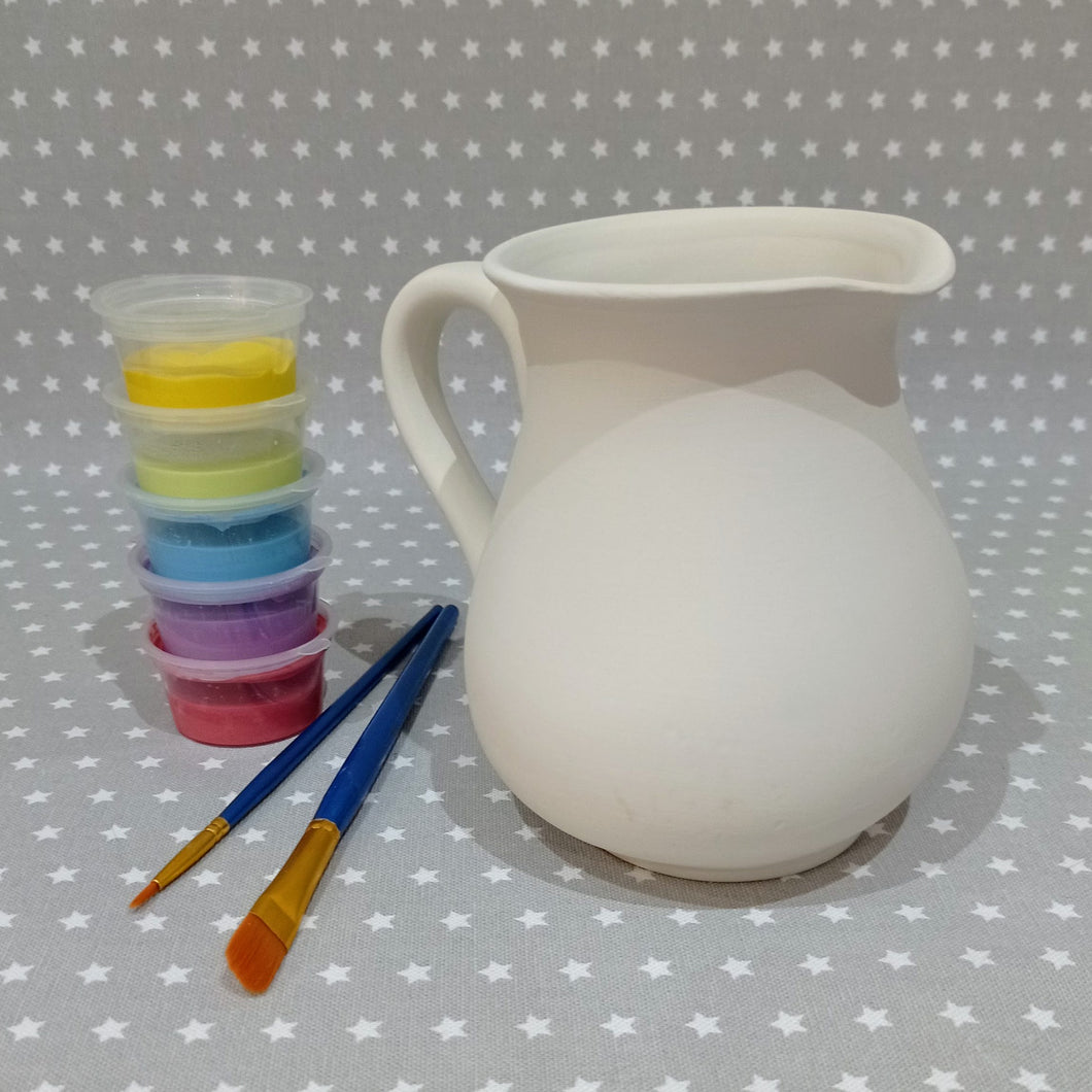 Ready to paint pottery - Half Litre Jug