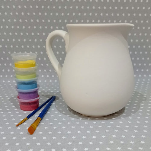Ready to paint pottery - 1 Litre Jug