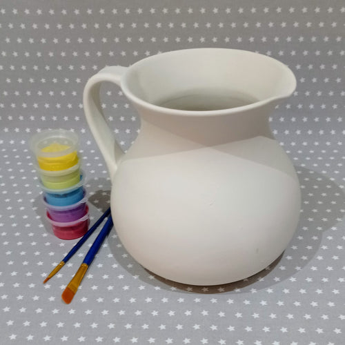 Ready to paint pottery - 2 Litre Jug