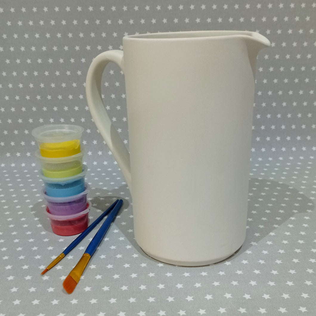 Ready to paint pottery - 1.5 Litre Cylinder Pitcher