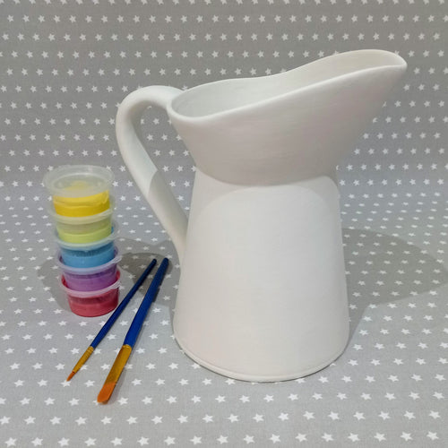 Ready to paint pottery - Large Country Jug