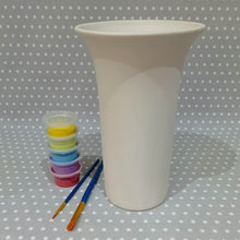 Load image into Gallery viewer, Ready to paint pottery - Tall Trumpet vase