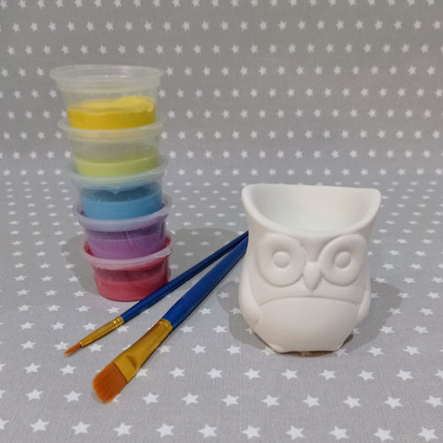 Ready to paint pottery - Owl Egg Cup