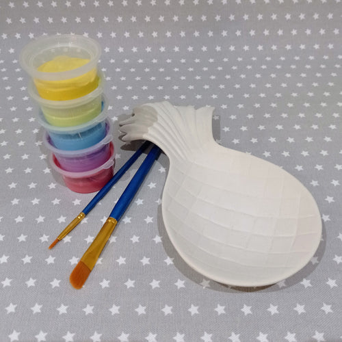 Ready to paint pottery - Pineapple Spoon Rest