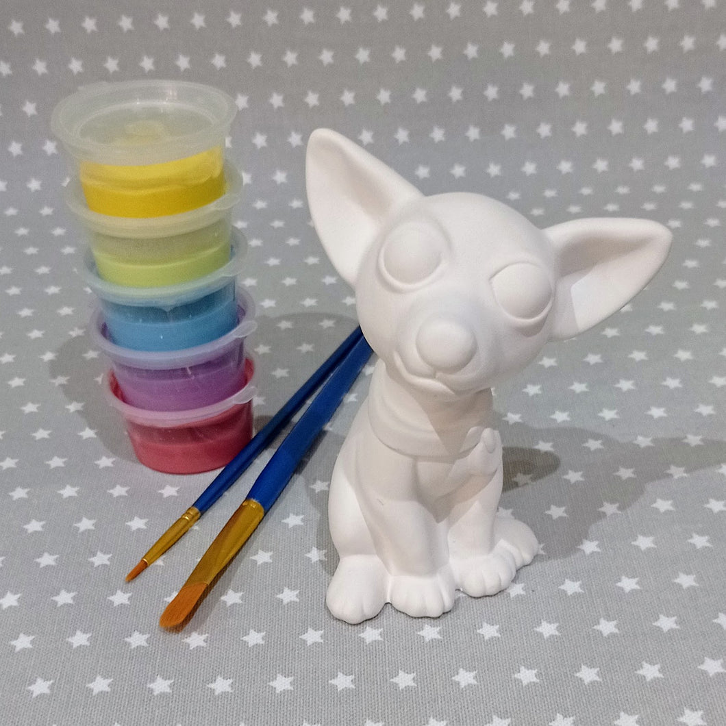 Ready to paint pottery - Medium Chihuahua Dog Figure
