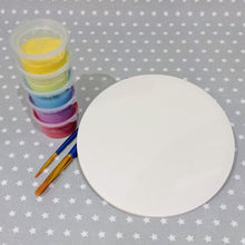 "Load image into Gallery viewer, Ready to paint pottery - 6"" Round Tile"