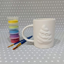 Load image into Gallery viewer, Ready to paint pottery - Poop Emoji Mug