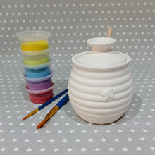 Load image into Gallery viewer, Ready to paint pottery - Honey Pot