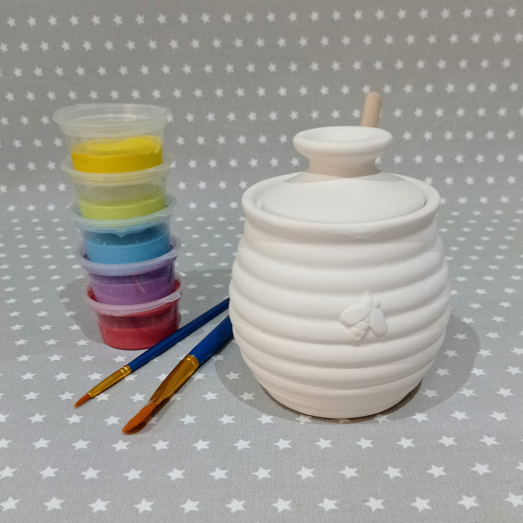 Ready to paint pottery - Honey Pot