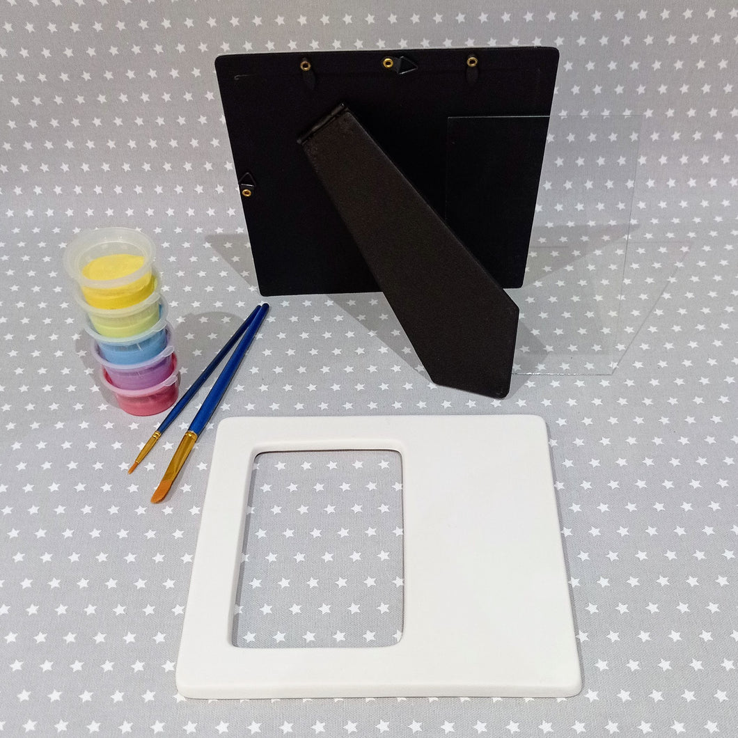 Ready to paint pottery - Rectangle Frame