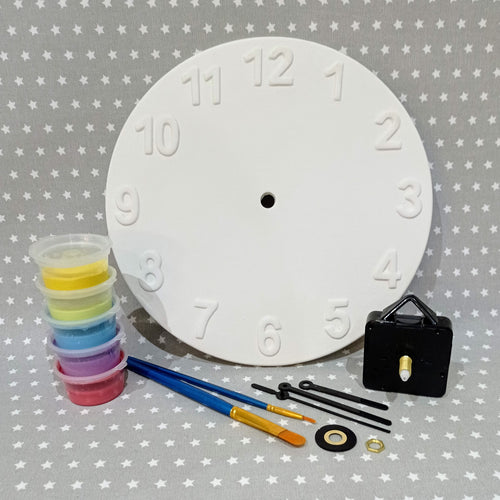 Ready to paint pottery - Wall Clock with Mechanism