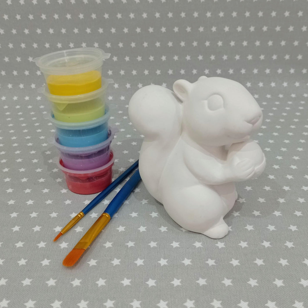 Ready to paint pottery - medium squirrel figure