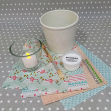 Load image into Gallery viewer, Decoupage Plant Pot and Tealight Kit