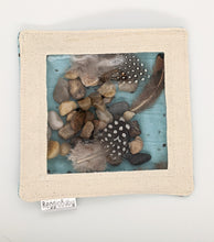 Load image into Gallery viewer, Large Sensory Toy with Natural Feathers and River Pebbles