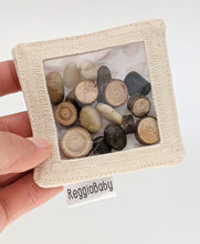 Load image into Gallery viewer, Mini Sensory Toy with Tree Pieces and River Pebbles