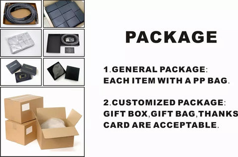 package: 1.general package is each item with app bag 10pcs per inner box 100pcs per carton. 2. Customized package: gift box ,gift bag,gift card .