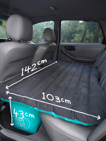 a06cc1f54d75 The Happy Hobo Measures  Measurements vary based on how much it is inflated  and can shape to the size of your car so measurements are approximate