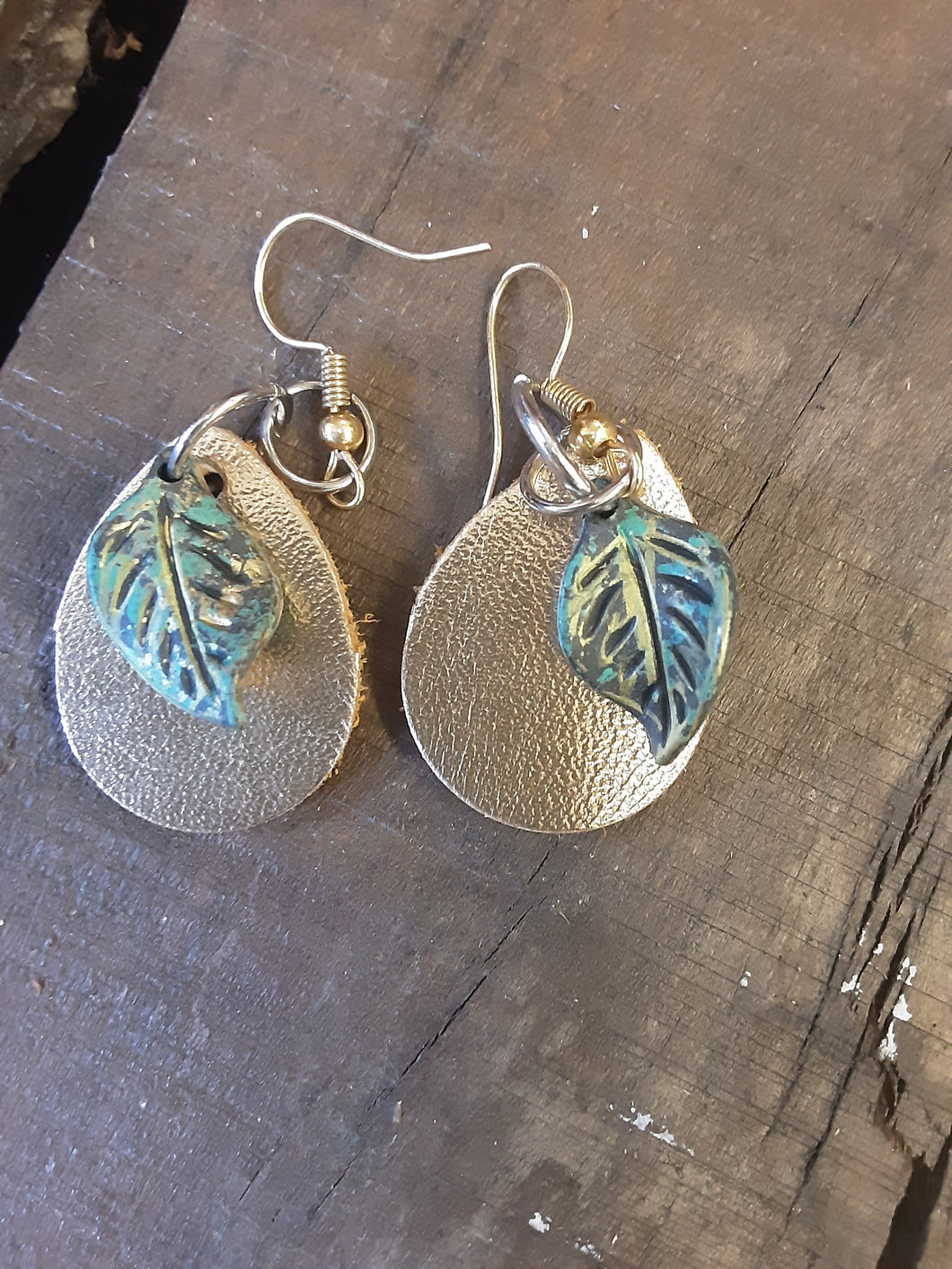 Leather Earrings Handcrafted by Junk Farey Julz