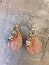 Load image into Gallery viewer, Leather Earrings Handcrafted by Junk Farey Julz