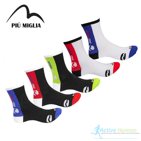 5 Pair Pack Piu Miglia Strada Sports Socks