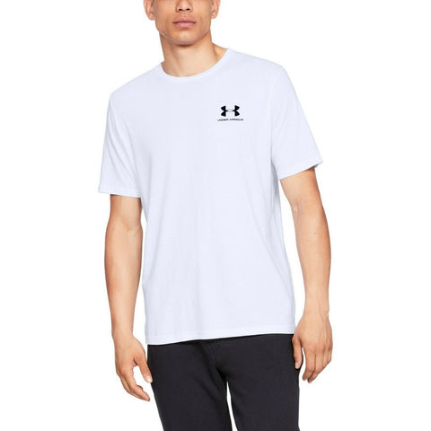 Under Armour S/Style Left Chest Logo Top - 1326799 100 - White