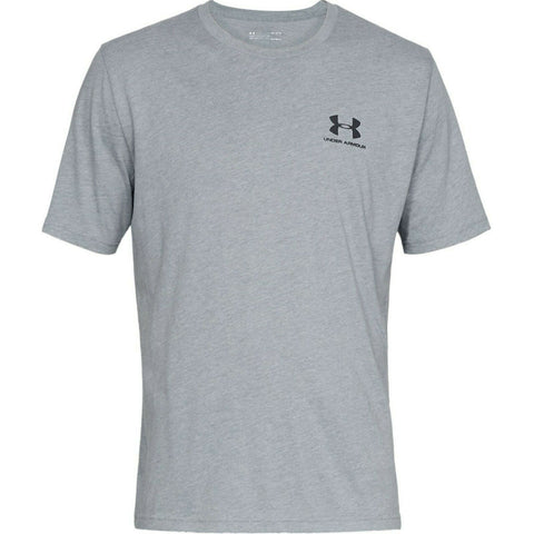 Under Armour S/Style Left Chest Logo Top - 1326799 036 - Grey