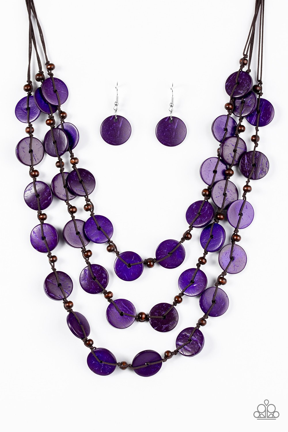 Tiki Tango - Purple - Paparazzi Accessories - Pretty Girl Jewels