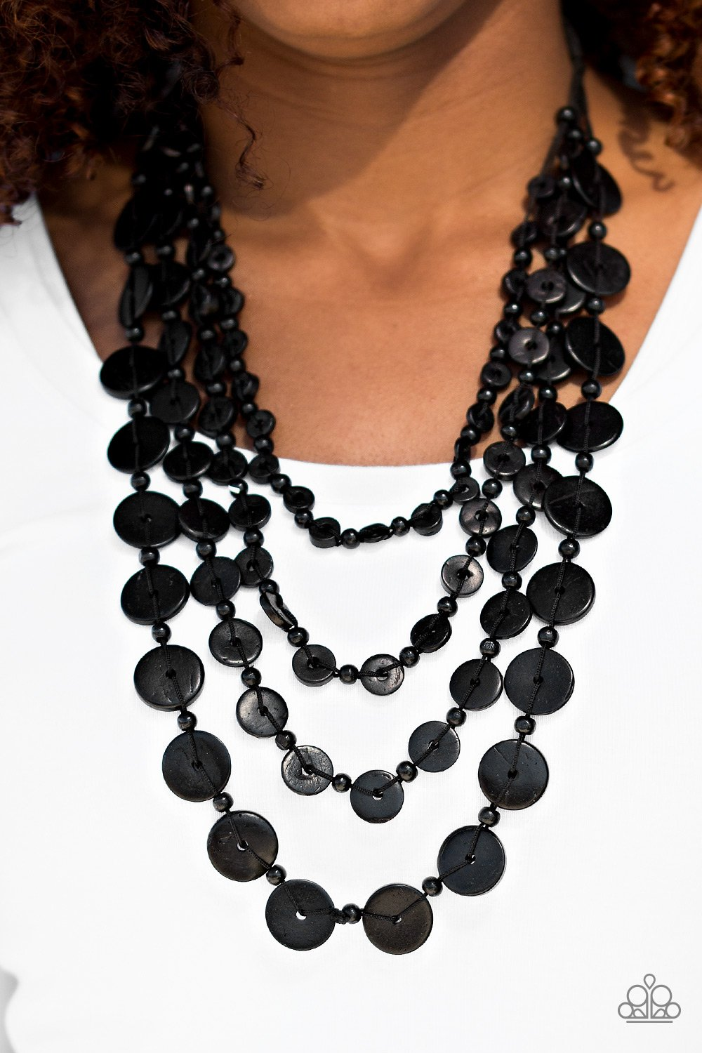 Fiji Flair - Black - Paparazzi Accessories - Pretty Girl Jewels