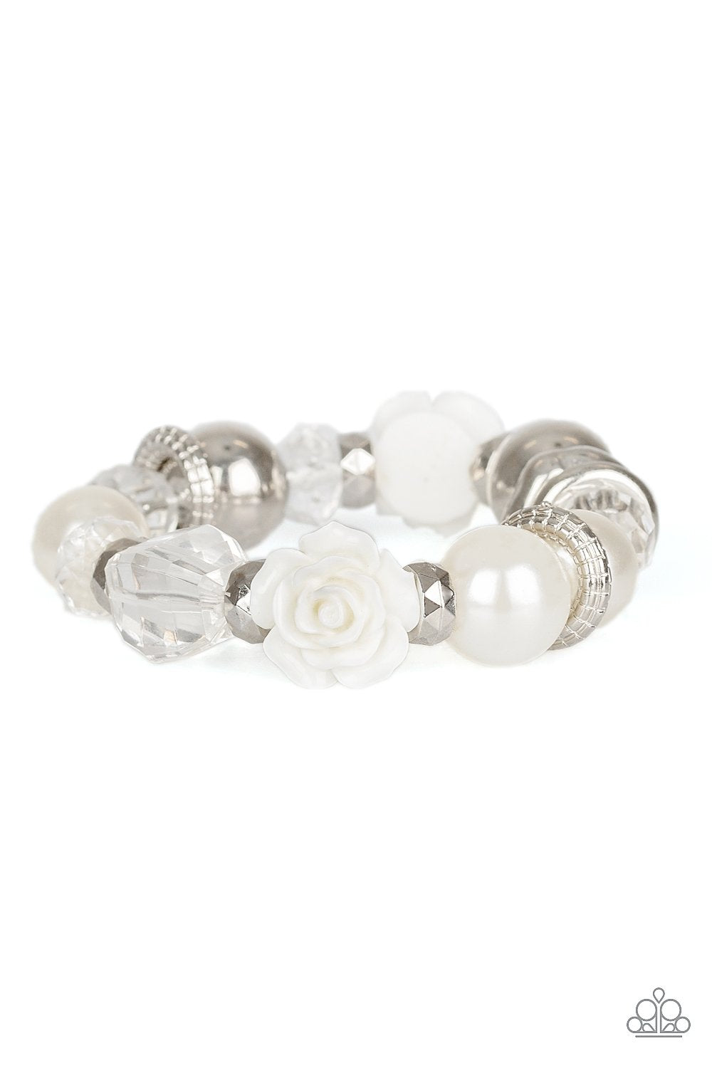 Here I Am - White - Paparazzi Accessories - Pretty Girl Jewels