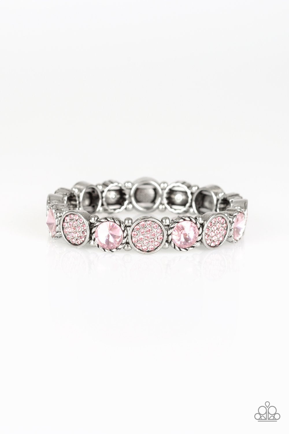 Take A Moment To Reflect - Pink - Paparazzi Accessories - Pretty Girl Jewels