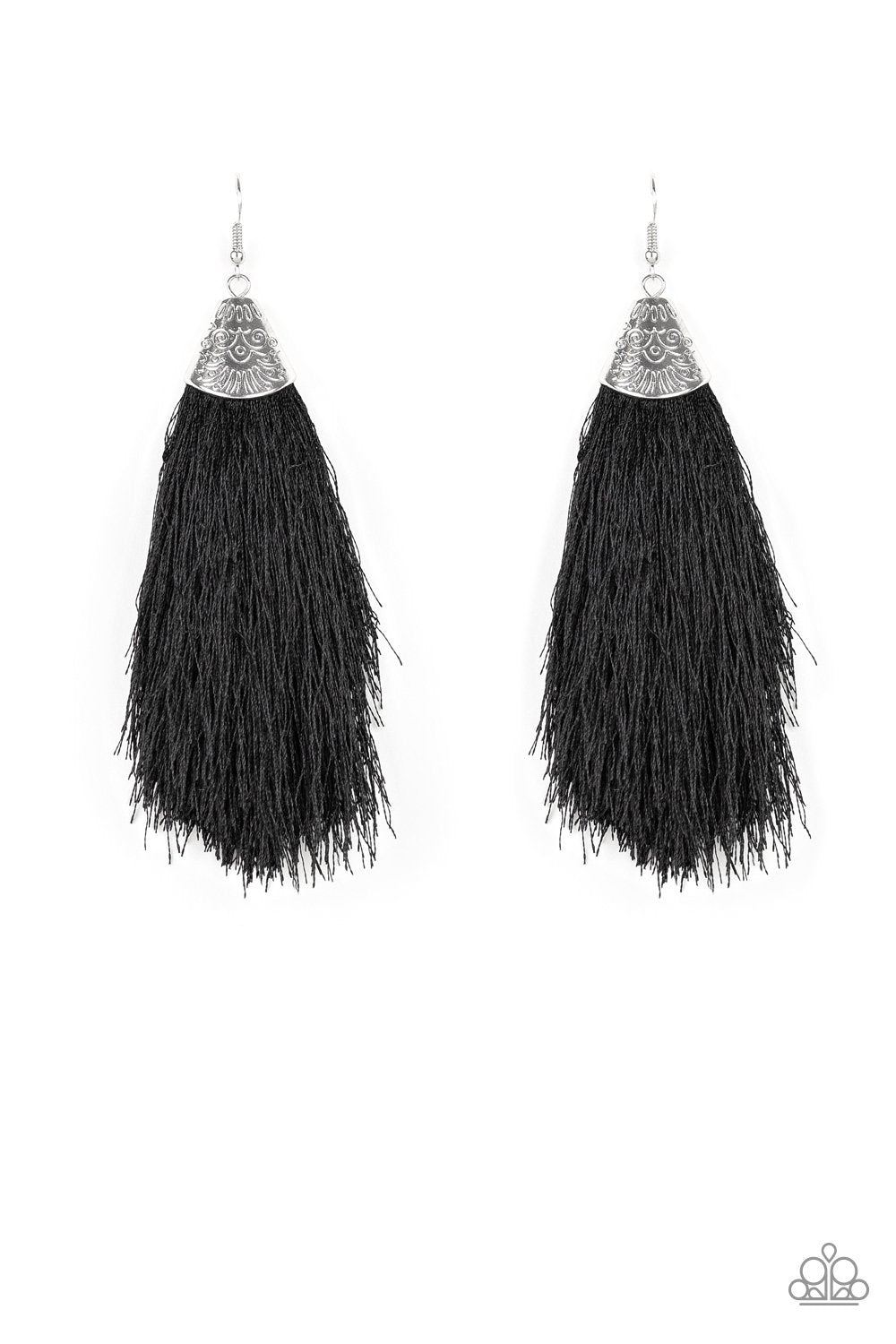 Tassel Temptress - Black - Paparazzi Accessories - Pretty Girl Jewels