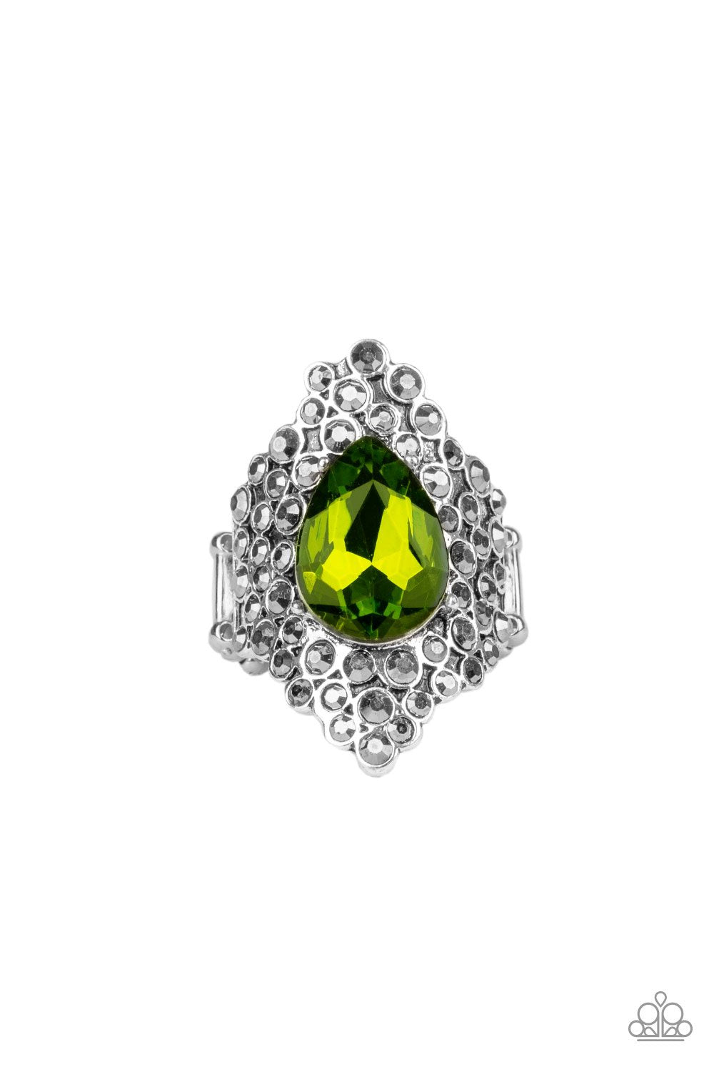 Hollywood Heiress - Green - Paparazzi Accessories - Pretty Girl Jewels