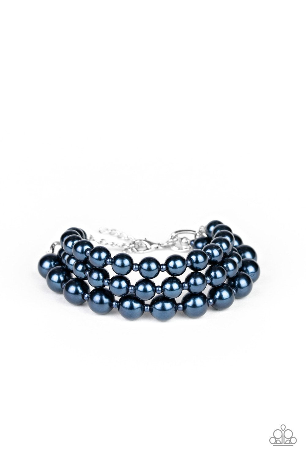 Total PEARL-fection - Blue - Paparazzi Accessories - Pretty Girl Jewels