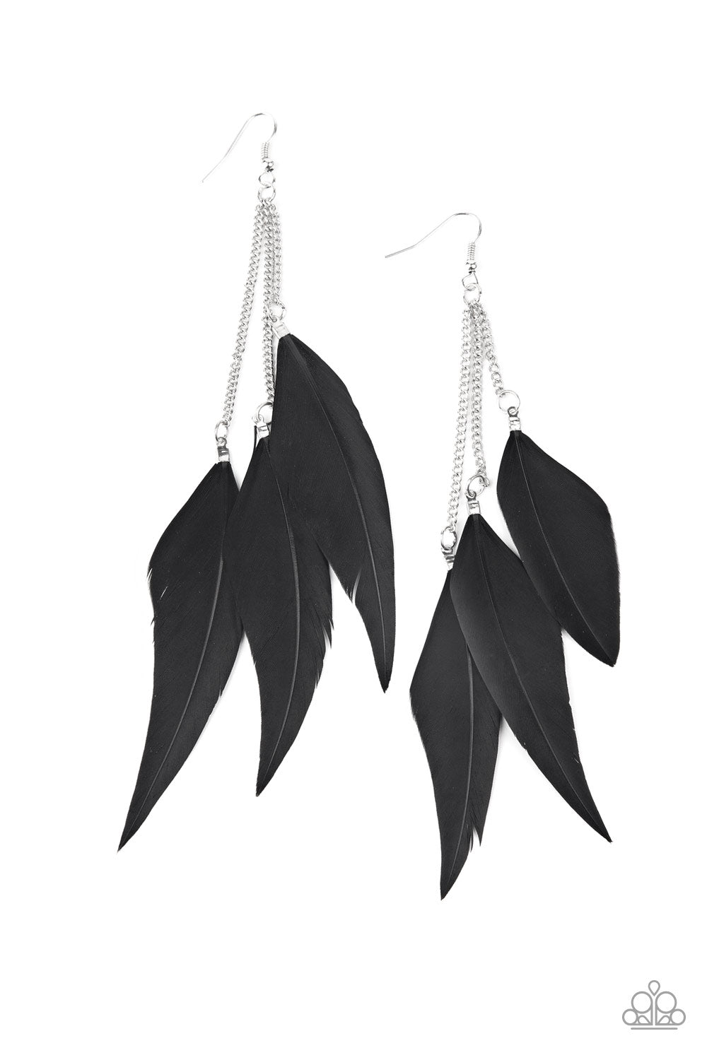 Paparazzi Accessories - West Side Western - Black Earrings