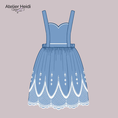 Embroidered pinafore