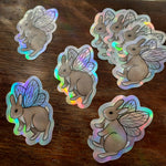 Bunnerfly Holographic Sticker